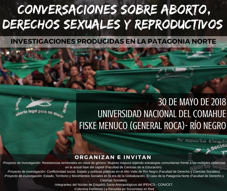 flyer Conversaciones sobre aborto